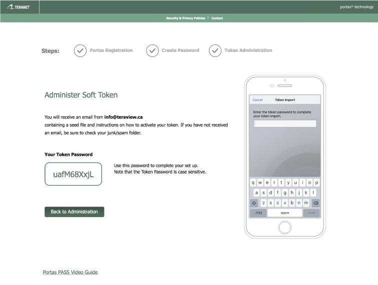 Register RSA Token – Teraview